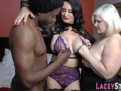 Big-Titted granny riding black do in Interracial