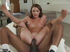 amateur MILF moans and trembles with each stroke of dick