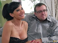 Cuckold hubby watches a stranger fucking his sexy wife Lezley Zen