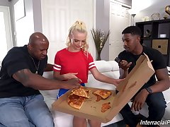 Interracial double penetration threesome around Russian Lana Sharapova