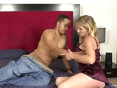 Blonde spliced cheating here a black guy