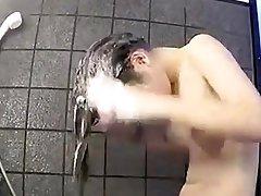 Cute Girl Showering