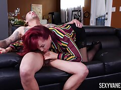 Tattooed stud does grey beauty Sexy Vanessa with the zest she deserves