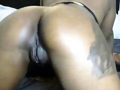 Big Booty Ebony Babe In like manner Her Pretty Pussy