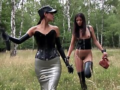 Slutty girls Lucky increased by Lucy Li have kinky lesbo sex respecting doused