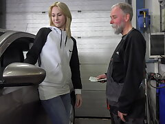Frances takes advantage of old goes young guy to land plum job