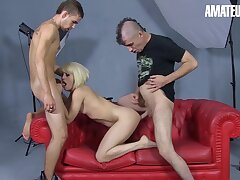 Nora Barcelona Sexy Spanish Milf Gets Fucked Hard By Two Blistering Guys - Amateureuro