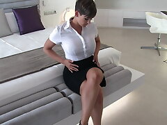 Sexy secretary wet garments fantasy