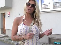 Tow-haired Pornstar Can't Help Herself