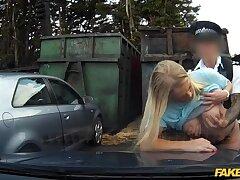 Bull of steel: Girl caught short won't be telling her boyfriend