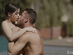 Alina Lopez is fabulous Latina babe who sucks dick in the pool