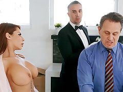 Gung-ho au pair girl is ready to anal fuck housewife