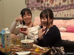 Tsukada Shiori decides to call her lesbian friend for amazing fuck