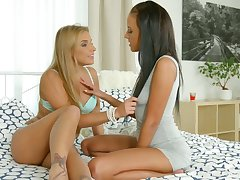 A dispirited morning for two pussy loving beauties and these girls are so horny