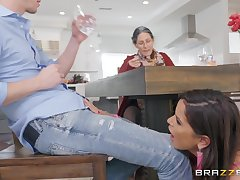 brunette Diamond Kitty enjoys hard fuck involving her friend in the first place the desk