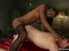 Domme black shemale aggravation fuck fucks menial