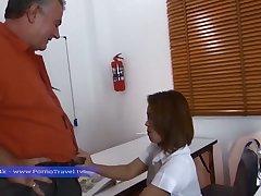 Age-old impoverish give his secretary a good romance