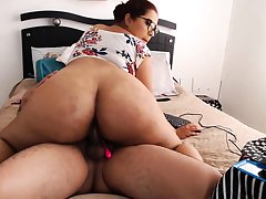 Bound big boobs brunette welcomes big cock in ass
