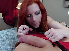 Redhead girl Lady Fyre loves all different sex poses with her friend
