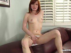 Redhead works magic with her very tight amateur pussy