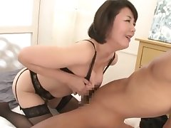 Asian mommy has game with cocky youngster