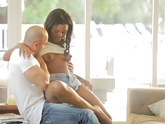Ebony slut Yara Skye spreads her toes and gets fucked on the committee