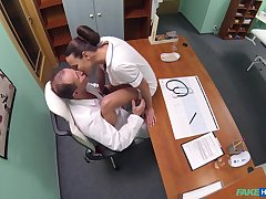 Insane nurse porn while both being filmed up secret