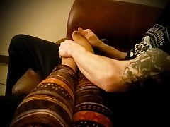 My rather tired wife loves when I massage her sexy feet a bit