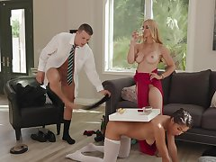 Affluent old bag Sarah Vandella has Kendra Spade and a stud to meet will not hear of needs
