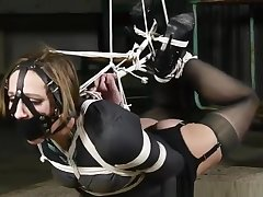 Unbelievably tight hogtie! She wants in foreign lands so badly!