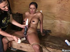 Hardcore BDSM-styled punishment be useful to busty stunner