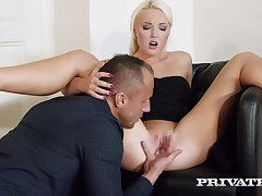 Platinum blonde lady, Lovita Gamble a accidentally likes to have sex with her married neighbor, quite often