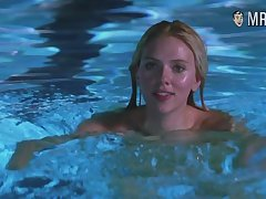 Scarlett Johansson swimming naked in the pool with an increment of looking sexy as Pandemonium