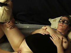Mature unpaid fisted encircling her cavernous vagina